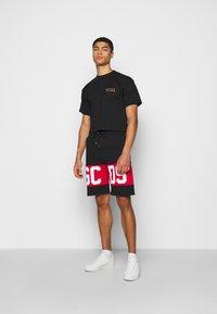 GCDS - CROP TEE - T-shirt basique - black - 1
