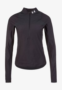 Under Armour - QUALIFIER HALF ZIP DAMEN - Sports shirt - black - 0