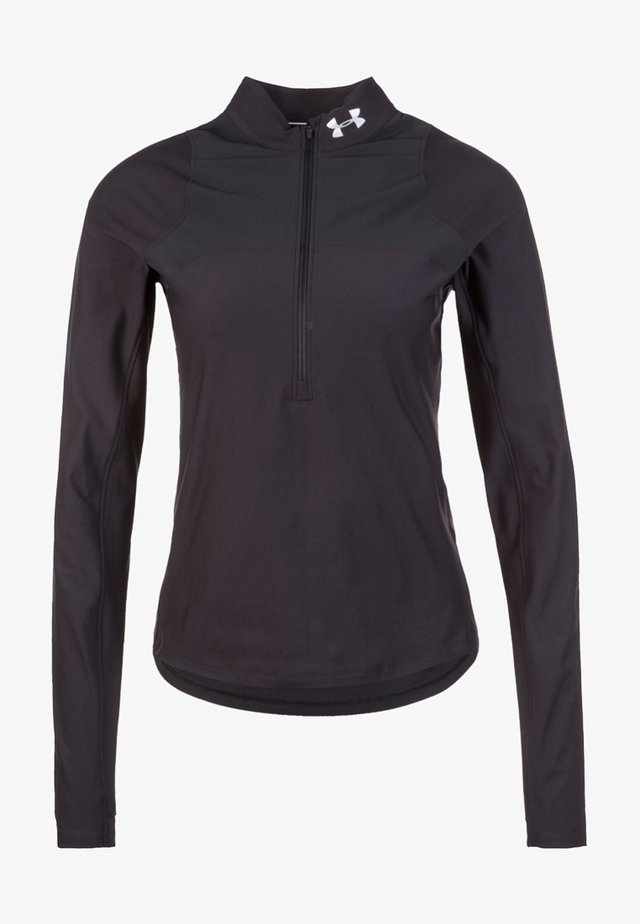 QUALIFIER HALF ZIP DAMEN - Sportshirt - black
