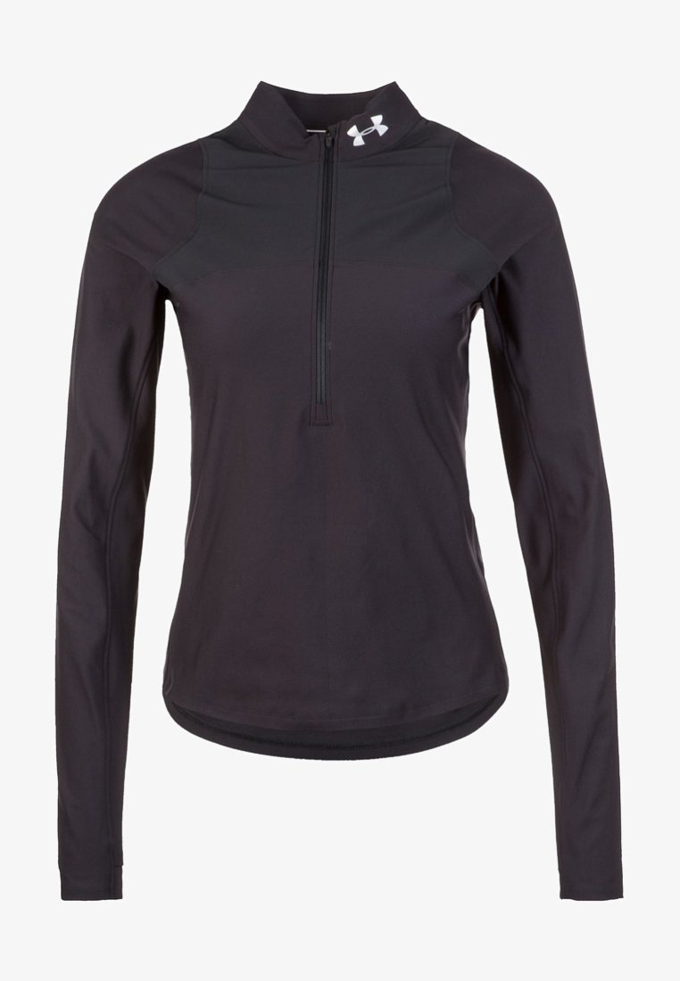 Under Armour - QUALIFIER HALF ZIP DAMEN - Sports shirt - black