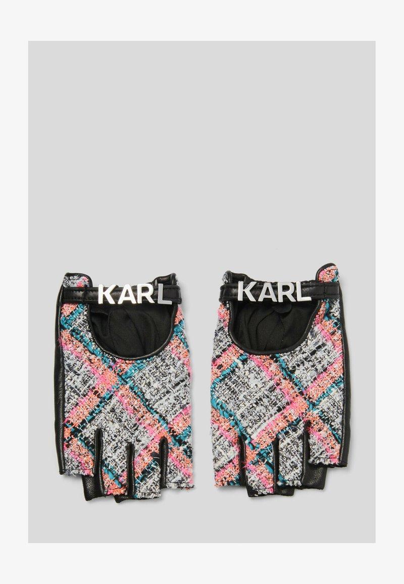 KARL LAGERFELD - STUDIO - Mittens - a568 pink multi