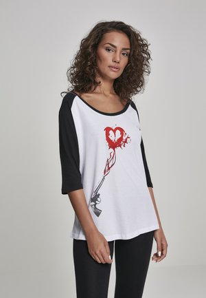 Print T-shirt - wht/blk