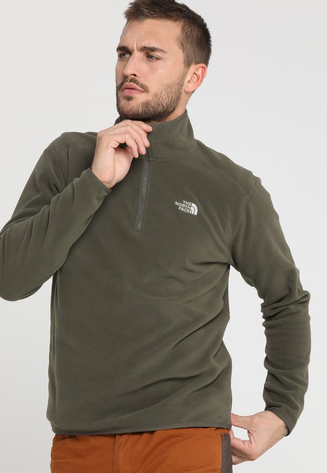 GLACIER 1/4 ZIP - Forro polar - new taupe green