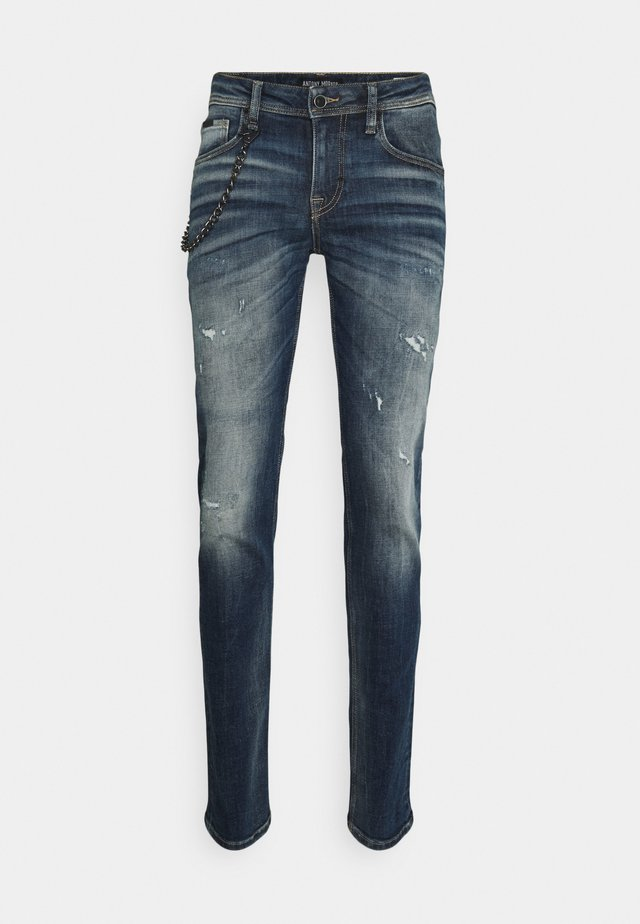 IGGY TAPERED FIT IN CROSS STRETCH - Jeans slim fit - blue denim