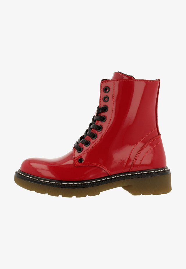 Veterboots - shinning red