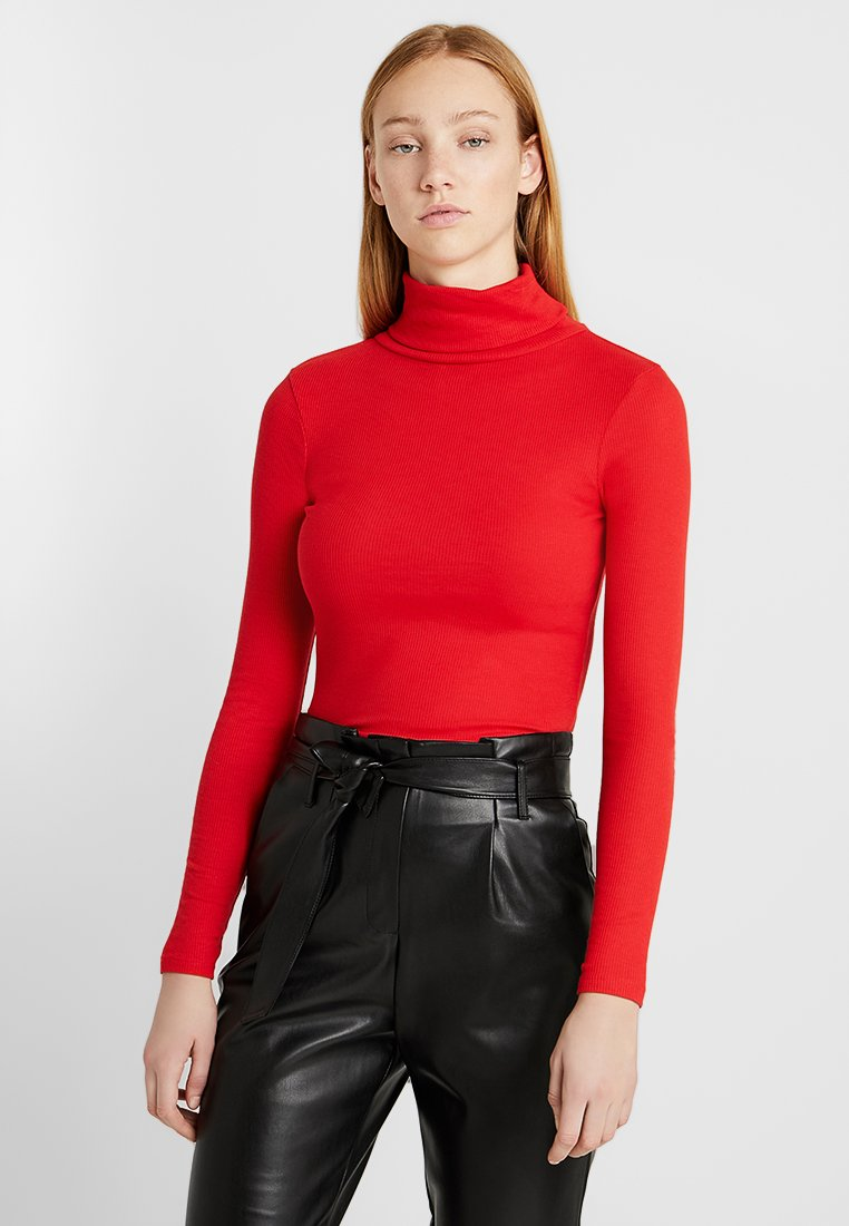 New Look - ROLL NECK - Maglietta a manica lunga - red