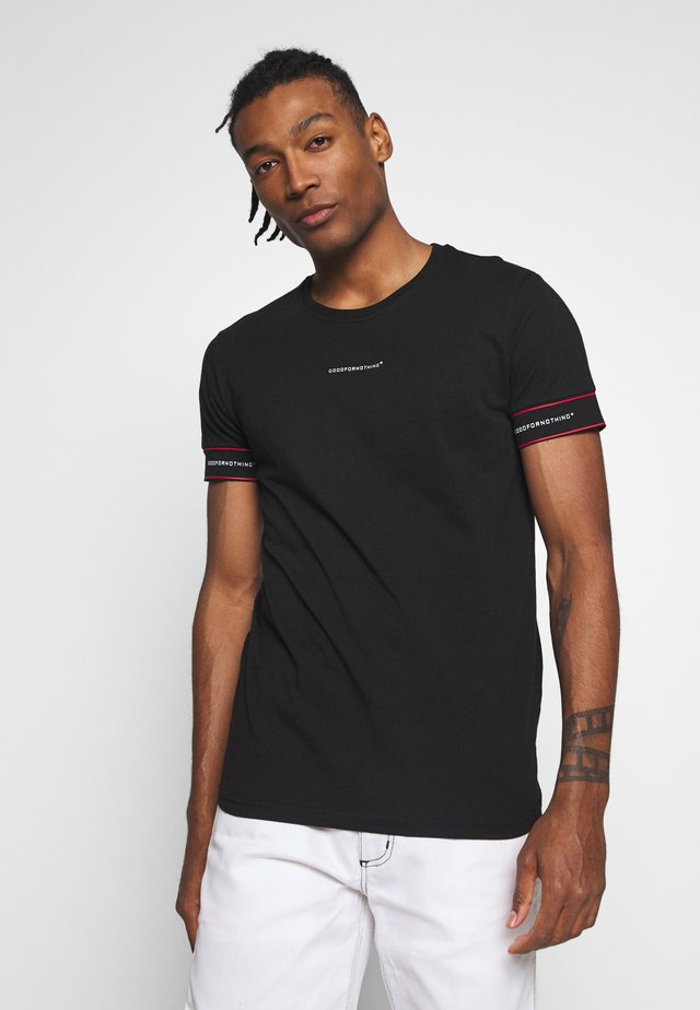 FITTED - T-shirt z nadrukiem - black