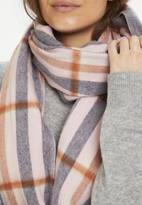 Part Two - ECITANAPW - Scarf - big check, silver pink - 1