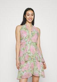Gina Tricot - EXCLUSIVE MALVA HALTERNECK DRESS - Koktejlové šaty/ šaty na párty - pink - 0