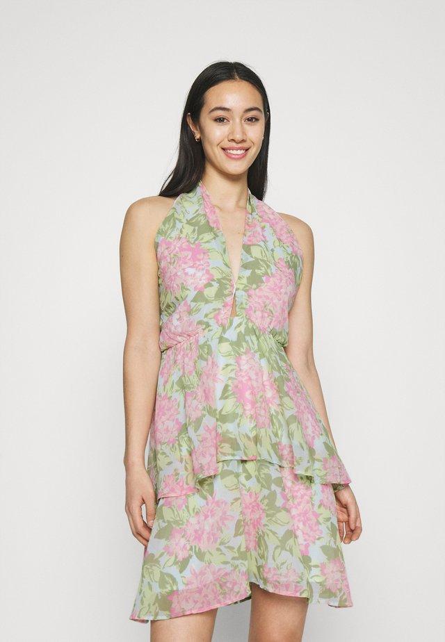 EXCLUSIVE MALVA HALTERNECK DRESS - Sukienka koktajlowa - pink