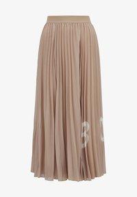 BOSS - TIPLISSEE - Maxi skirt - beige - 4