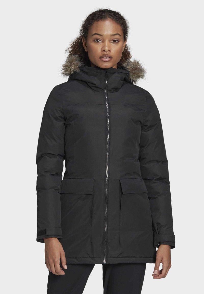 adidas Performance - XPLORIC PARKA - Winter coat - black