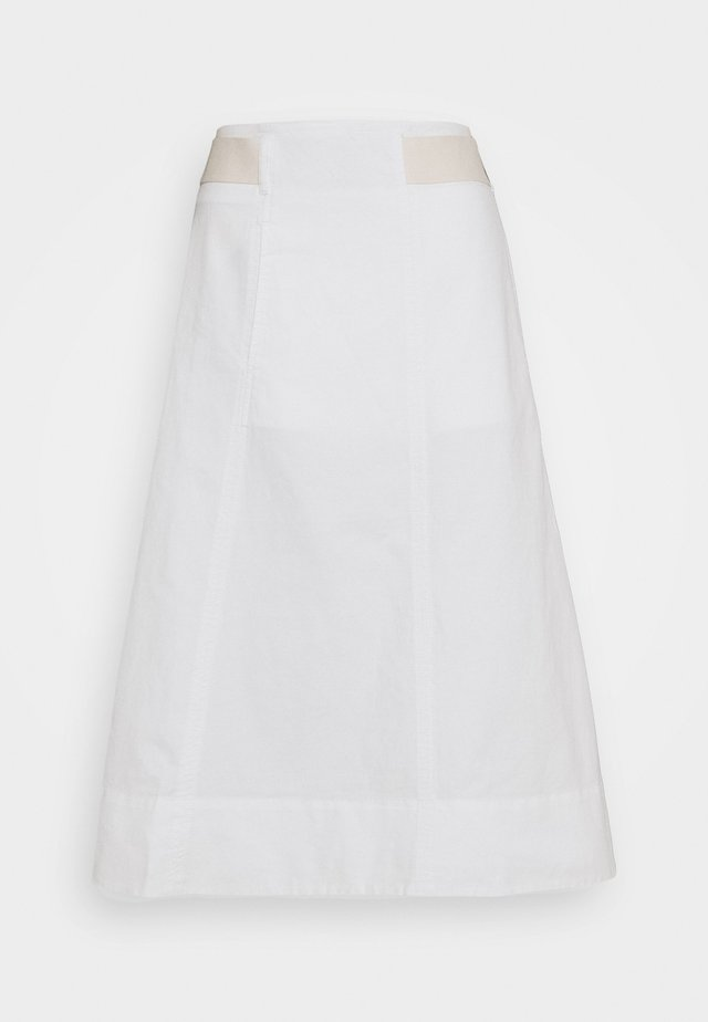 SKIRT - Jupe trapèze - cloud white