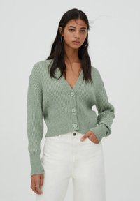 PULL&BEAR - Cardigan - green - 0