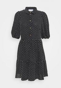 Closet - GATHERED DRESS - Shirt dress - black - 3