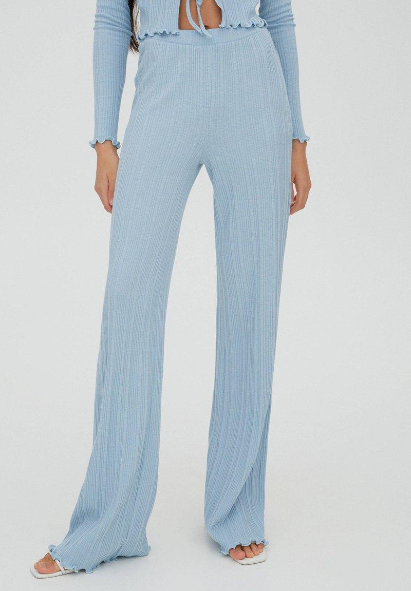 PULL&BEAR - Trousers - stone blue denim