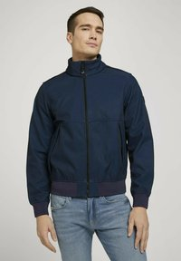 TOM TAILOR - MIT STEHKRAGEN - Outdoor jacket - blue twill structure - 0