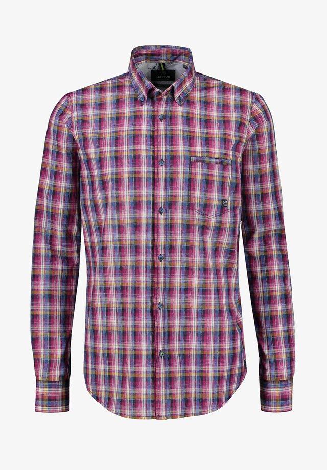 MIT MODISCHEM CHECK - Shirt - aurora red