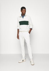 Polo Ralph Lauren - LOOPBACK TERRY LONG SLEEVE - Sweatshirt - chic cream/college green - 1