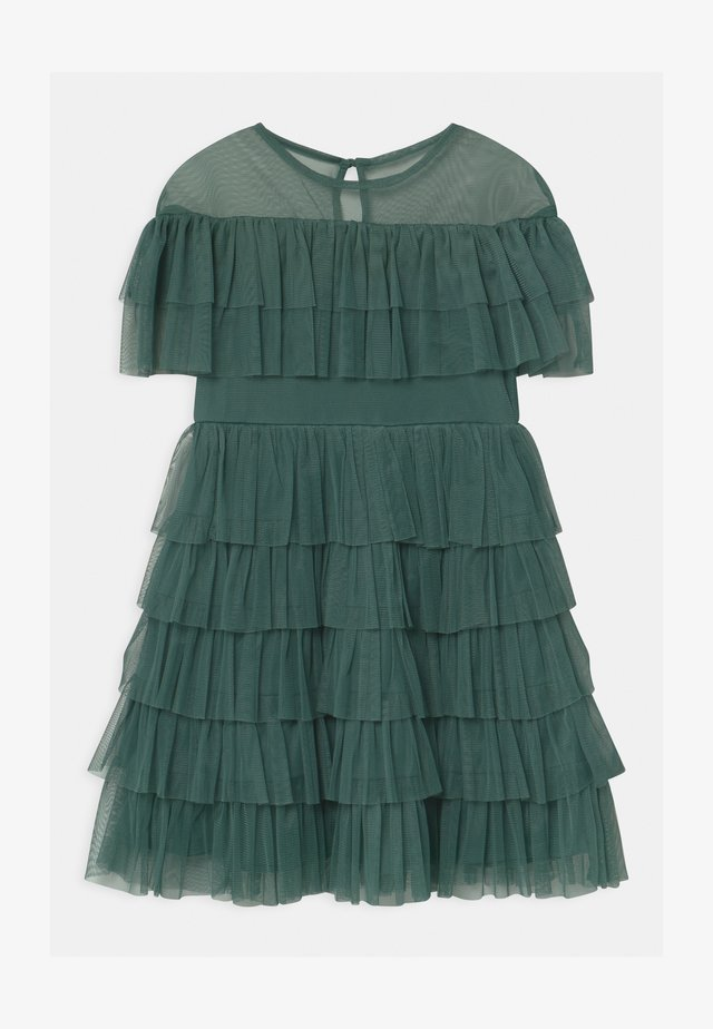 TIERED GATHERED  - Cocktailjurk - jade green