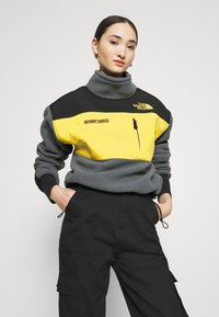 The North Face - STEEP TECH JACKET - Fleecegenser - vanadis grey/black/lightning yellow - 3