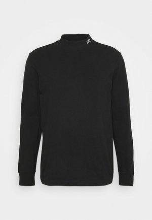 LOGO MOCK - Bluzka z długim rękawem - true black