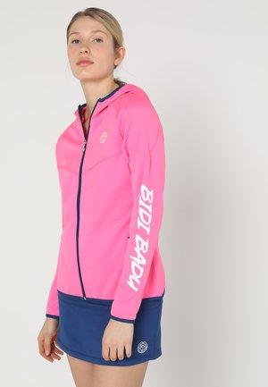 INGA TECH JACKET - Zip-up sweatshirt - pink/dark blue