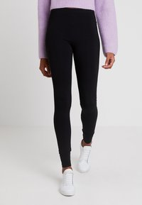 Monki - KIM SIMPLE 2 PACK - Leggings - black - 1