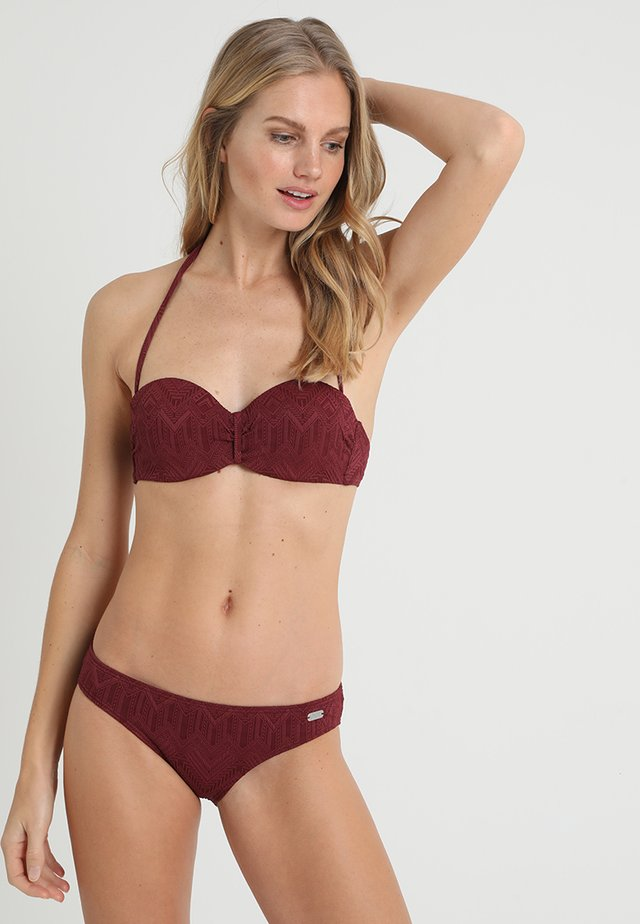 WIRE BANDEAU SET - Bikiny - wine red