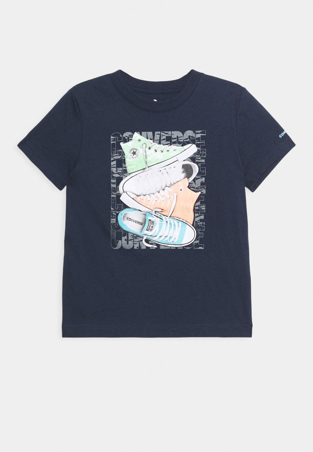 SHORT SLEEVE CHUCK TAYLOR GRAPHIC UNISEX - T-shirt print - obsidian