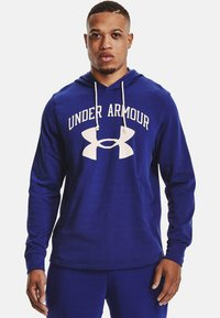 Under Armour - RIVAL TERRY BIG LOGO HD-WHT - Hoodie - regal - 0
