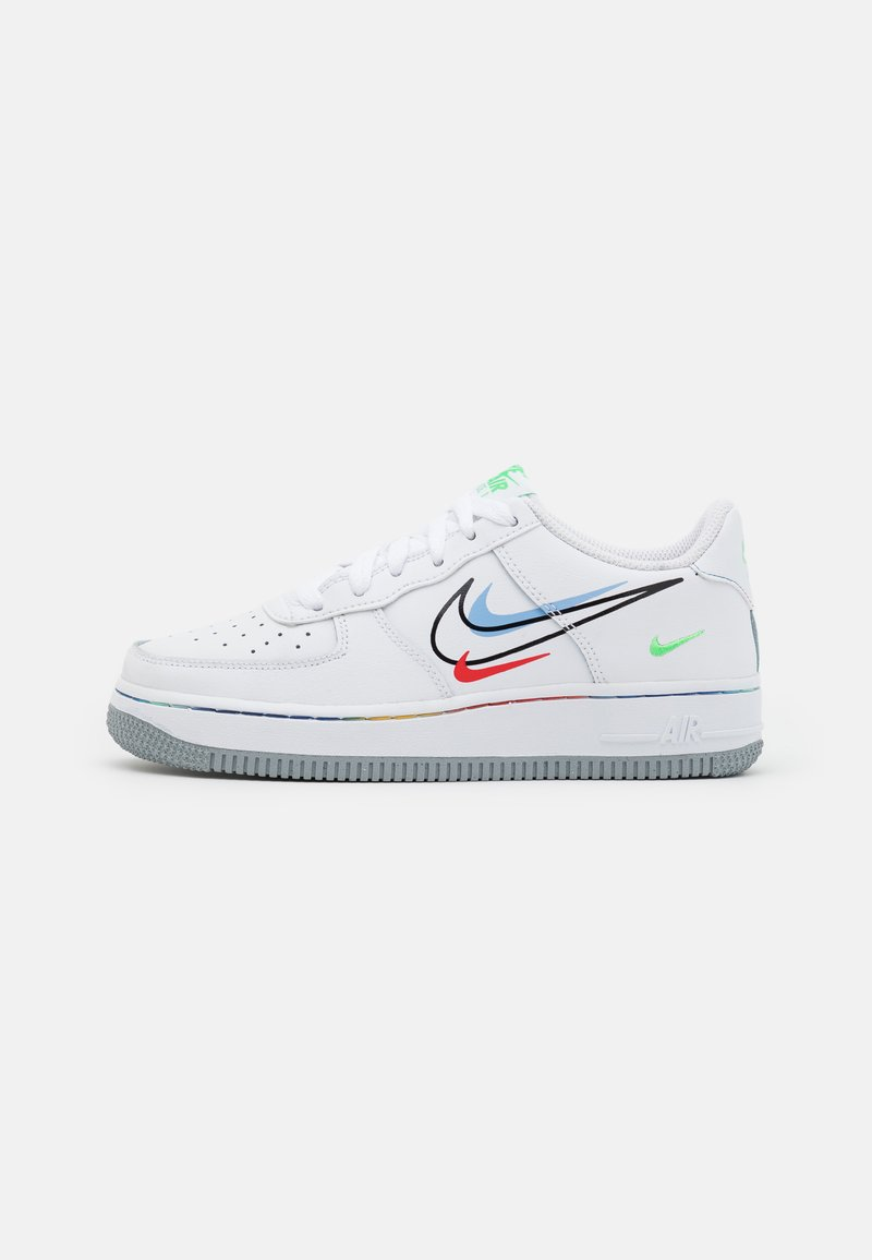 Nike Sportswear - AIR FORCE 1 UNISEX - Trainers - white/light green spark/aluminum/black/chile red/wolf grey