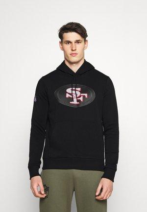 NFL SAN FRANSICO 49ERS QUICK TURN HOODIE - Klubbkläder - black