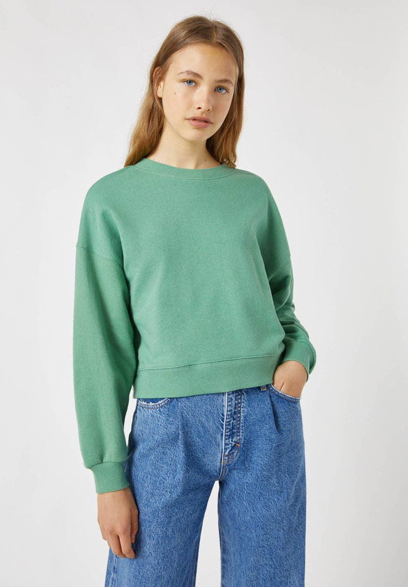 PULL&BEAR - Mikina - green