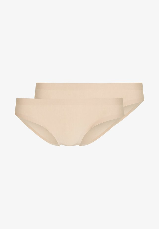 INVISIBLE 2 PACK - Briefs - nude