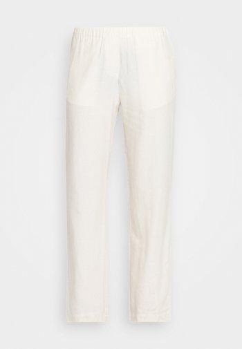 HOYS STRAIGHT PANTS - Kangashousut - warm white