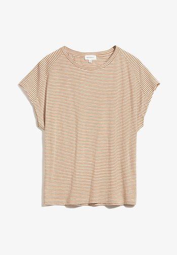 OFELIAA PRETTY - Print T-shirt - toasted hazel-oatmilk