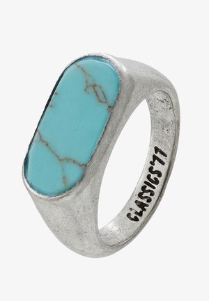 OVAL STONE - Prsten - silver-coloured/turquoise
