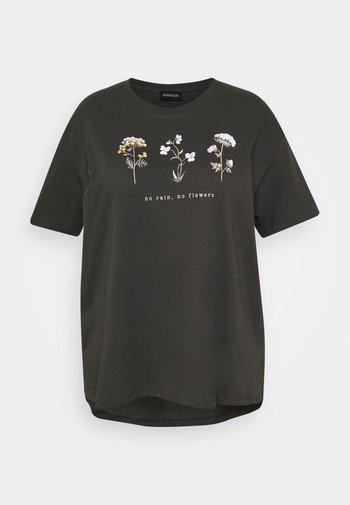 HATTIE WILDFLOWERS NO RAIN TEE - Print T-shirt - anthracite