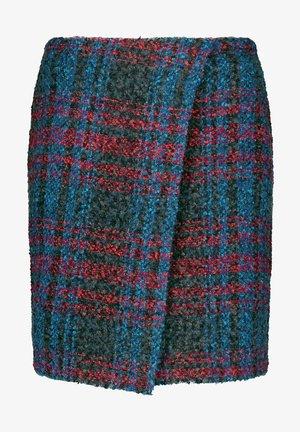 Wrap skirt - charcoal gemustert