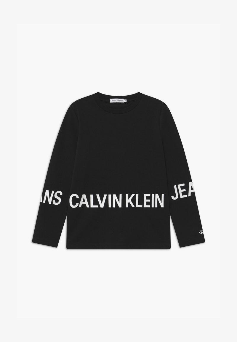 Calvin Klein Jeans - STRETCH LOGO - Maglietta a manica lunga - black