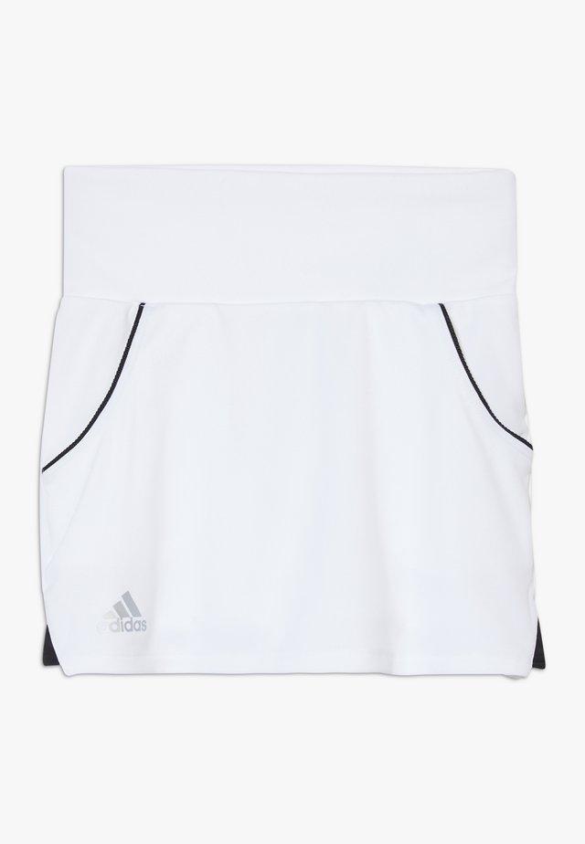 CLUB SKIRT - Gonna sportivo - white/silver/black