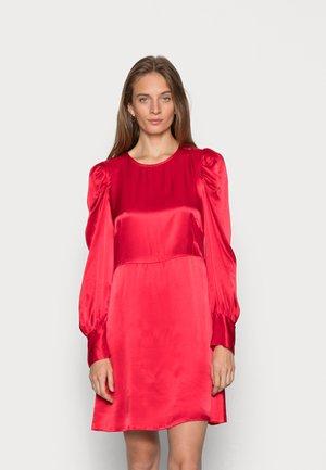 CLOSET LONDON PUFF SLEEVE DRESS - Cocktail dress / Party dress - rust