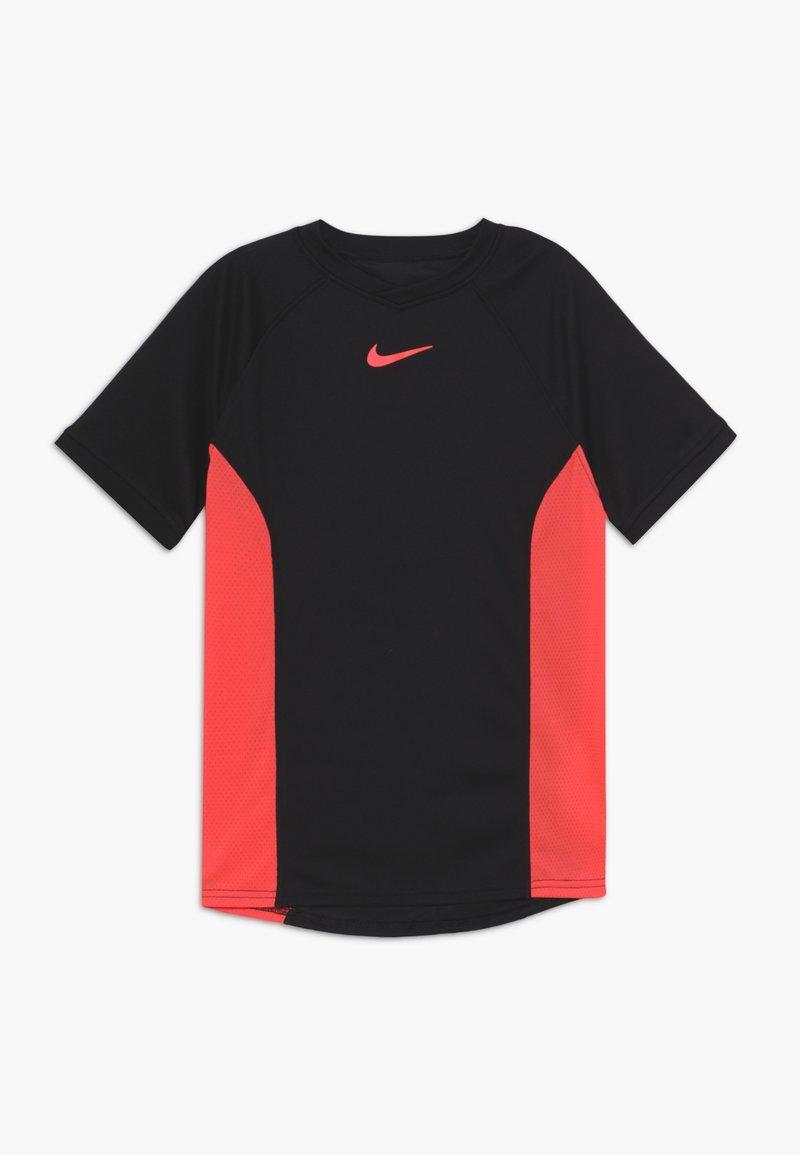 Nike Performance - DRY - Print T-shirt - black/laser crimson
