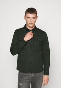 Solid - SDLOKE OVERSHIRT - Korte jassen - forest night - 0