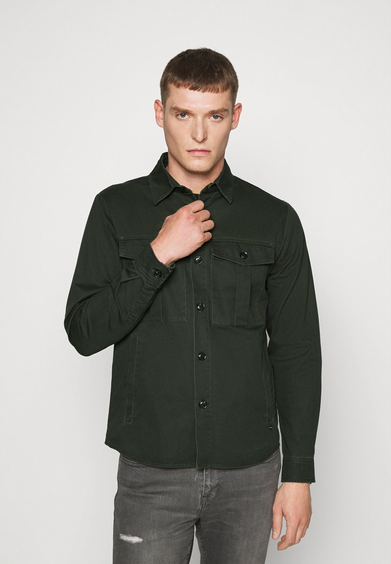 Solid - SDLOKE OVERSHIRT - Korte jassen - forest night