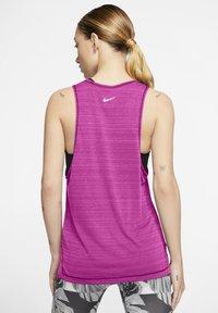 Nike Performance - NIKE ICON CLASH WOMEN'S RUNNING TANK - Top - fire pink/heather/magic flamingo/white - 2