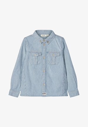 NAME IT HEMD GESTREIFTES BAUMWOLL - Overhemd - light blue denim
