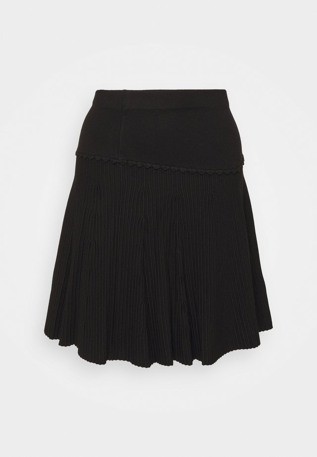 CLAUDETTE FANCY SKIRT - Spódnica trapezowa - black