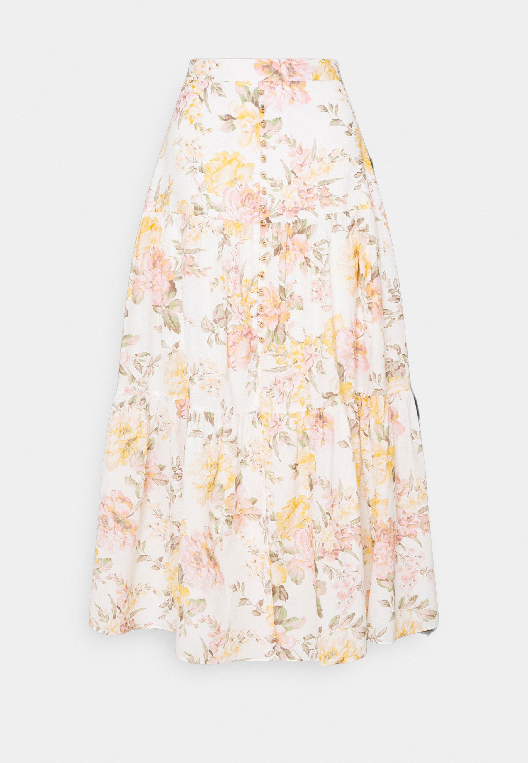 Women RAINA TIERED MIDI SKIRT - Maxi skirt